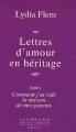 """Afficher """"Lettres d'amour en héritage"""""""
