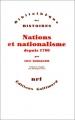 """Afficher """"Nations et nationalisme depuis 1780"""""""