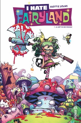 vignette de 'I hate fairyland n° 1<br /> vert de ses cheveux (Le) (Skottie Young)'