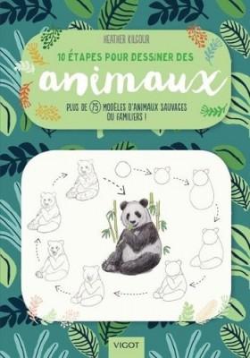 """Afficher """"1 10 étapes pour dessiner des animaux"""""""