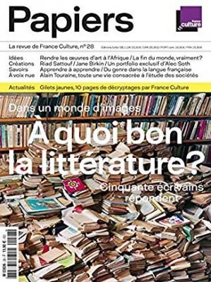 """Afficher """"A quoi bon la littérature ?"""""""
