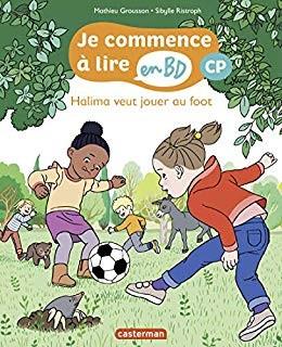 """Afficher """"Halima veut jouer au foot : je commence à lire en cp"""""""