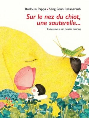 """Afficher """"Sur le nez du chiot, une sauterelle..."""""""