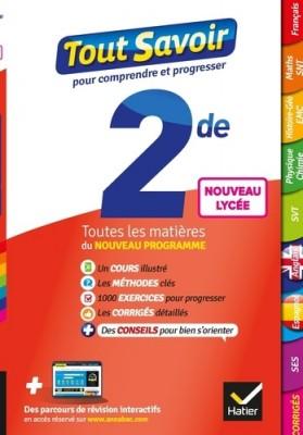 """Afficher """"Tout savoir 2de"""""""