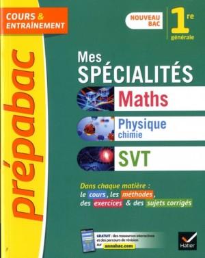 """Afficher """"Mes spécialités maths, physique chimie, SVT, 1re générale"""""""