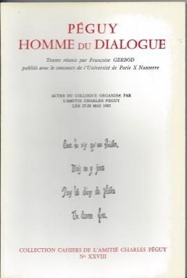 """Afficher """"Péguy homme du dialogue"""""""