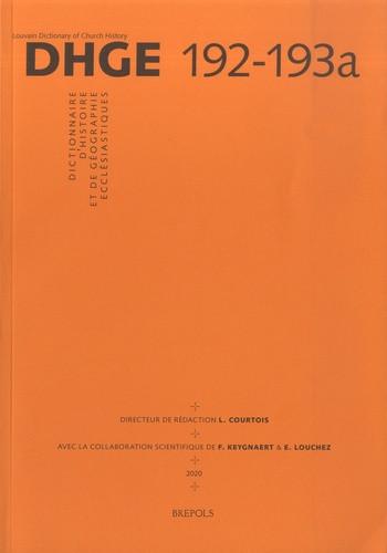 Dictionnaire d'histoire et de géographie ecclésiastiques : tome 33 (fascicule 192-193a)