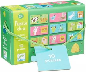Couverture de Puzzle duo : Habitat