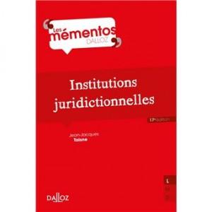 Couverture de Institutions juridictionnelles