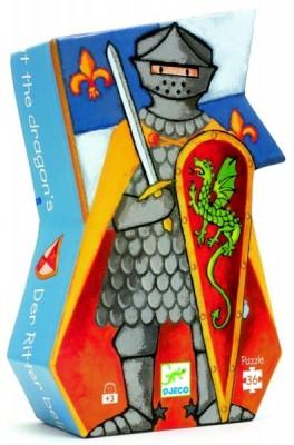 Couverture de Le chevalier au dragon : puzzle