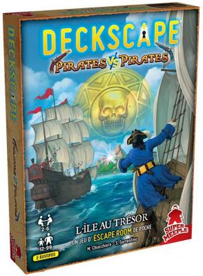 Couverture de Deckscape , Pirates Vs Pirates : Un jeu d'escape room de poche