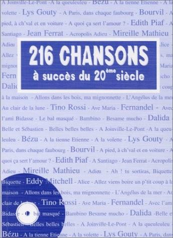 216 chansons à succès du 20e siècle
