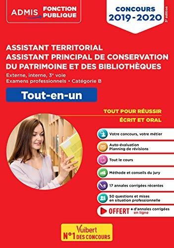 Assistant territorial, assistant principal de conservation du patrimoine et des bibliothèques