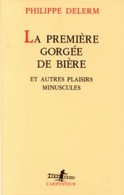 vignette de 'La Première gorgée de bière (Delerm, Philippe)'