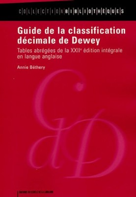 "Afficher ""Guide de la classification décimale de Dewey"""