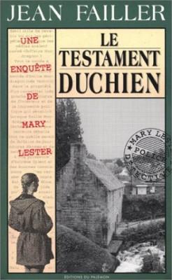 """Afficher """"Une enquête de Mary Lester n° 18 Le testament Duchien"""""""