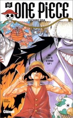 """Afficher """"One piece n° 10 One Piece. 10, OK, let's stand up !"""""""
