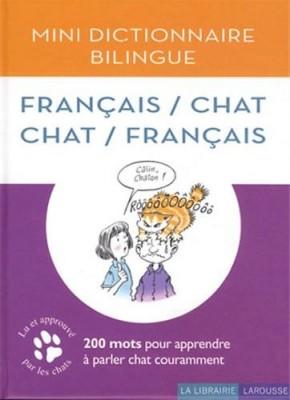 """Afficher """"Mini dictionnaire bilingue français-chat, chat-français"""""""