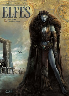 vignette de 'Elfes n° 1<br /> Le Crystal des elfes bleus (Jean-Luc Istin)'