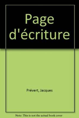 """Afficher """"Page d'écriture"""""""
