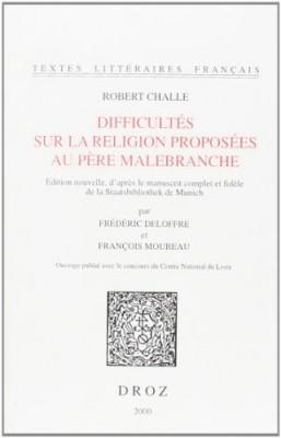 """Afficher """"Difficultés sur la religion proposées au père Malebranche"""""""