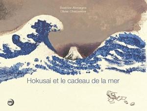 vignette de 'Hokusai et le cadeau de la mer (Beatrice Alemagna)'