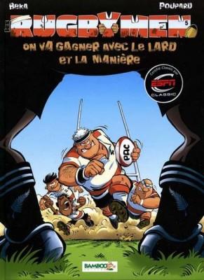 """Afficher """"Les rugbymen n° 5 On va gagner avec le lard et la manière"""""""
