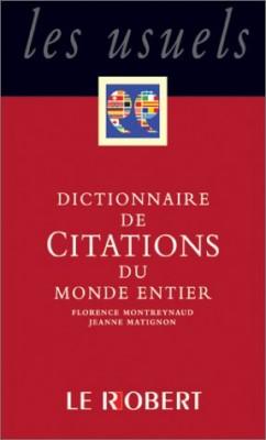 """Afficher """"Dictionnaire de citations françaises"""""""