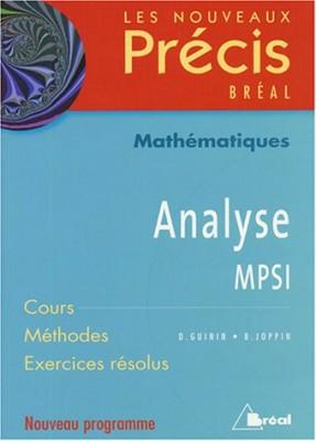 """Afficher """"Analyse, MPSI"""""""