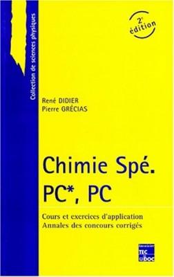"""Afficher """"Chimie Spé PC*, PC"""""""