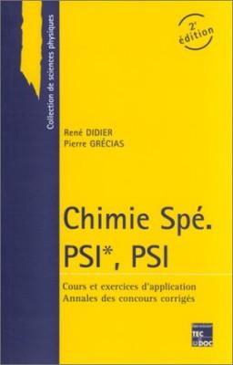 """Afficher """"Chimie Spé PSI*, PSI"""""""
