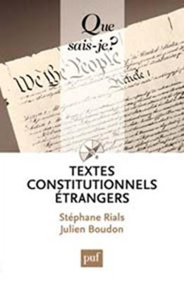 """Afficher """"Textes constitutionnels étrangers"""""""