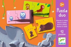 Couverture de Puzzle duo : Maman et bébé