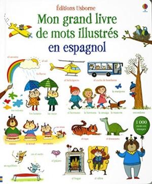 """Afficher """"Mon grand livre de mots illustrés en espagnol"""""""