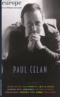 "Afficher ""Europe n° 1049-1050 Paul Celan"""