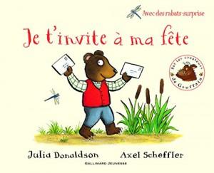 """Afficher """"Je t'invite à ma fête Julia Donaldson, Axel Scheffler"""""""