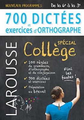 "Afficher ""700 dictées et exercices d'orthographe"""