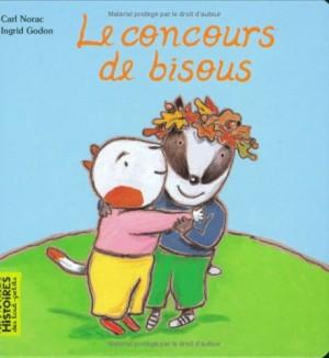 vignette de 'Le concours de bisous (Norac, Carl)'