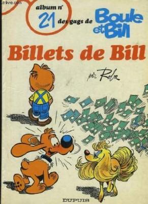 """Afficher """"Boule & Bill n° 24 Billets de Bill"""""""