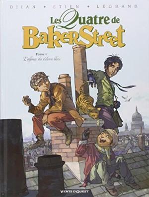 vignette de 'Les quatre de Baker Street n° 1<br />L'affaire du rideau bleu (Jean-Blaise Djian)'