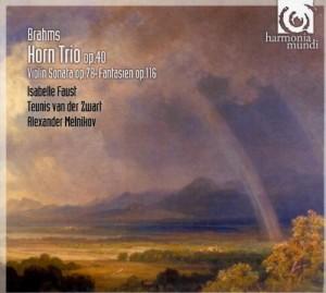 vignette de 'Trio pour violon, cor et piano opus 40 en mi bémol majeur (Johannes Brahms)'