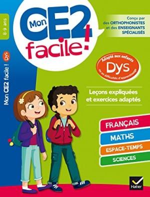 Couverture de Mon CE2 facile ! 8-9 ans : adapté aux enfants dys ou en difficultés d'apprentissage
