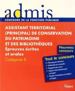 """Afficher """"Assistant territorial (principal) de conservation du patrimoine et des bibliothèques"""""""