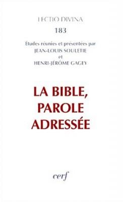 """Afficher """"La Bible, parole adressée"""""""