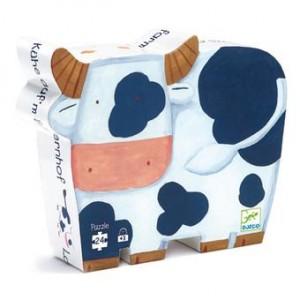 Couverture de Les vaches à la ferme : puzzle