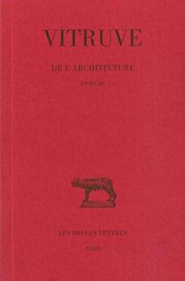 """Afficher """"De l'architecture n° 3De l'architecture : Livre III"""""""
