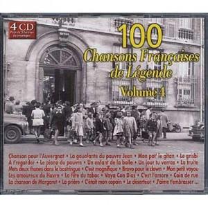 """Afficher """"100 chansons françaises de légende, vol. 4"""""""