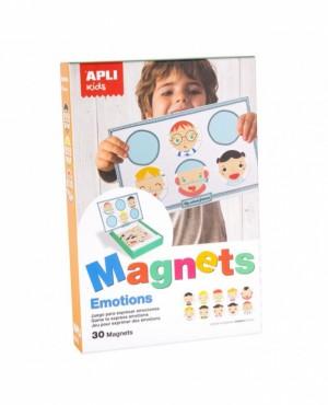 """Afficher """"APLI Jeu magnétique Support et 30 Pièces Emotions"""""""