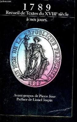 """Afficher """"1789, recueil de textes et documents"""""""