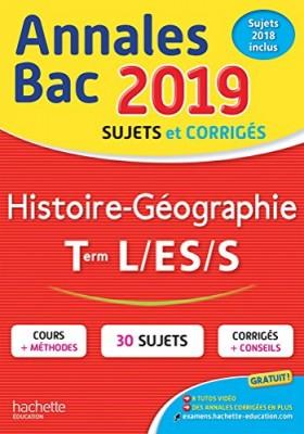 """Afficher """"Annales Bac 2019 Histoire-Géo Tles L/ES/S"""""""
